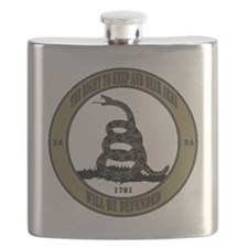 Defend the Second Amendment Flask