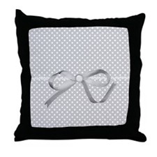Poky Grey Throw Pillow