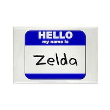 hello my name is zelda Rectangle Magnet
