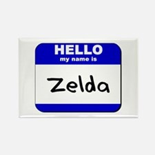 hello my name is zelda Rectangle Magnet