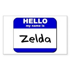 hello my name is zelda Rectangle Decal