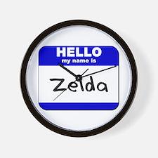 hello my name is zelda  Wall Clock