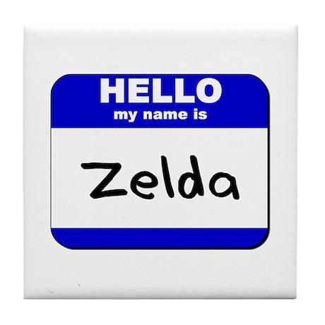 hello my name is zelda Tile Coaster