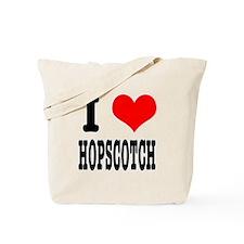 I Heart (Love) Hopscotch Tote Bag