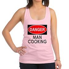 Danger Man Cooking Racerback Tank Top