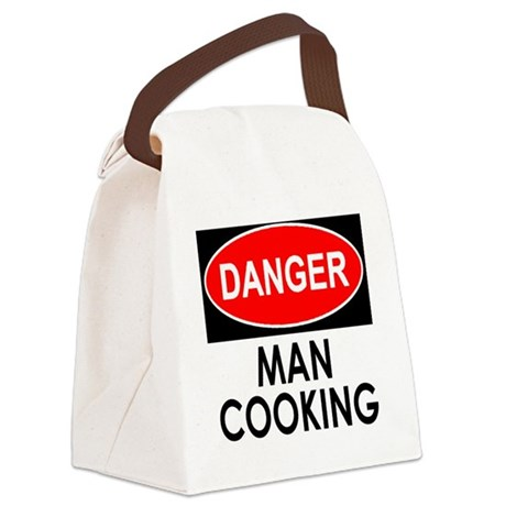 Danger Man Cooking Canvas Lunch Bag