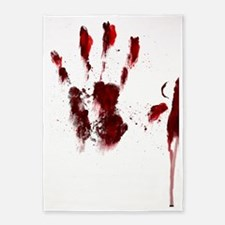 The Red Hand 5'x7'Area Rug