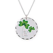 kiss me im Irish Necklace Circle Charm