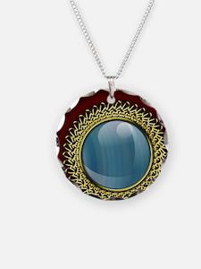 blue mirror Necklace