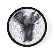 nvy-ss_elephant-face Wall Clock