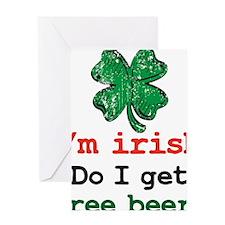Im irish Greeting Card