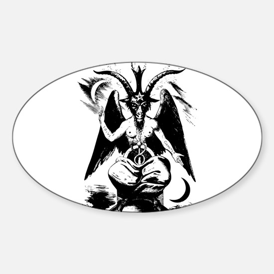 Baphomet Oval Decal