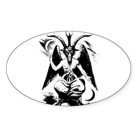 Baphomet Oval Sticker