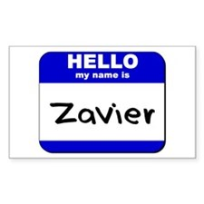 hello my name is zavier Rectangle Decal