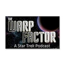THE WARP  FACTOR - Poster Car Magnet 20 x 12