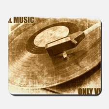 Real Music Only Vinyl Mousepad
