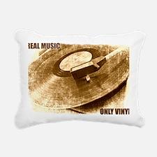 Real Music Only Vinyl Rectangular Canvas Pillow