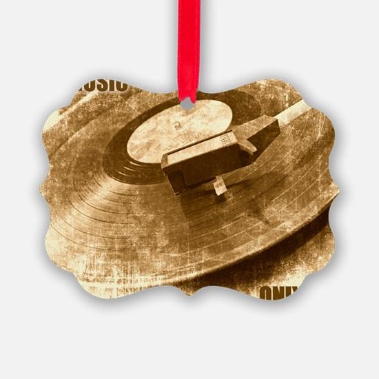 Real Music Only Vinyl Ornament