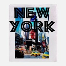 NewYork_12x12_TimesSquare Throw Blanket