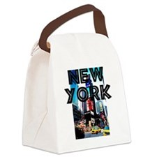 NewYork_12x12_TimesSquare Canvas Lunch Bag
