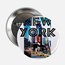 """NewYork_12x12_TimesSquare 2.25"""" Button"""