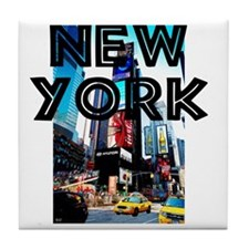NewYork_12x12_TimesSquare Tile Coaster