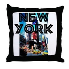 NewYork_12x12_TimesSquare Throw Pillow