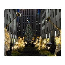 NY Holiday 11X15 Throw Blanket