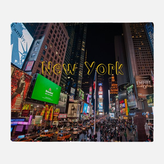 NewYork_11x9_CalendarPrint_TimesSqua Throw Blanket