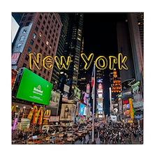 NewYork_11x9_CalendarPrint_TimesSquar Tile Coaster