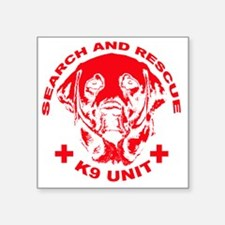 "K9 UNIT red Square Sticker 3"" x 3"""