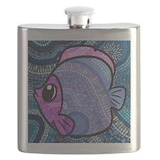 mosaic fish Flask