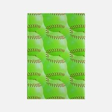 Softball Rectangle Magnet