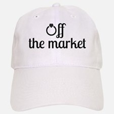 Off the Market Bride Baseball Baseball Cap