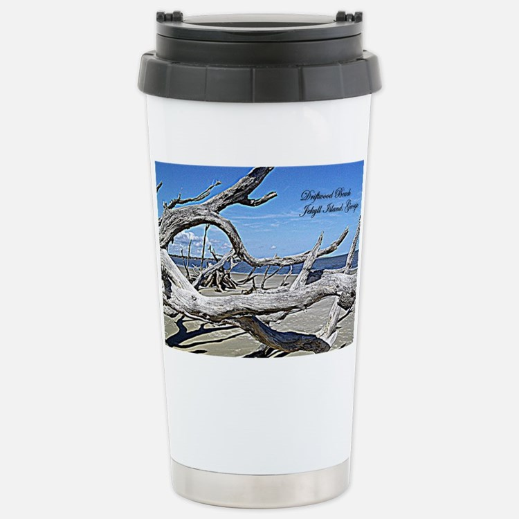 Driftwood Beach Stainless Steel Travel Mug