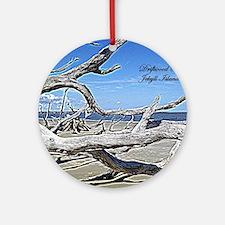 Driftwood Beach Round Ornament
