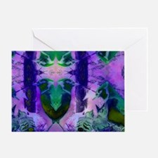 Abstract Rose Birds – Violet & P Greeting Card
