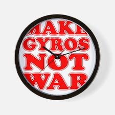 Make Gyros Not War Apron Wall Clock