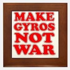 Make Gyros Not War Apron Framed Tile