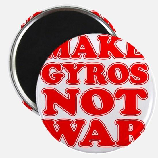 Make Gyros Not War Apron Magnet