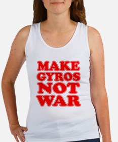 Make Gyros Not War Apron Women's Tank Top