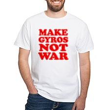 Make Gyros Not War Apron Shirt