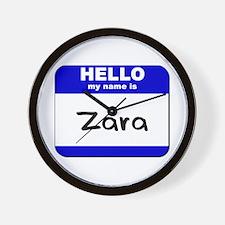 hello my name is zara  Wall Clock