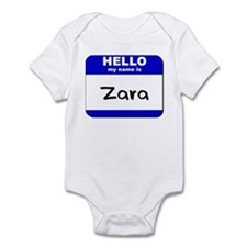 hello my name is zara  Infant Bodysuit