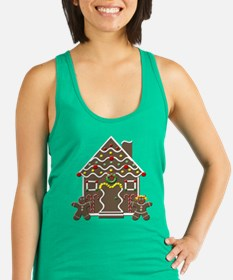 Cute Gingerbread House Christmas Racerback Tank To