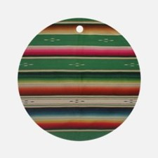Vintage Green Mexican Serape Round Ornament