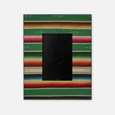 Vintage Green Mexican Serape Picture Frame