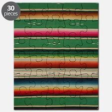 Vintage Green Mexican Serape Puzzle