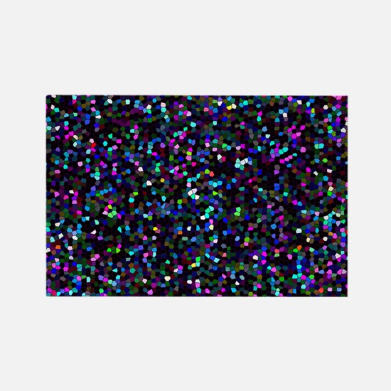 Glitter Graphic Background Rectangle Magnet