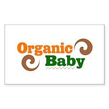Organic Baby Rectangle Decal